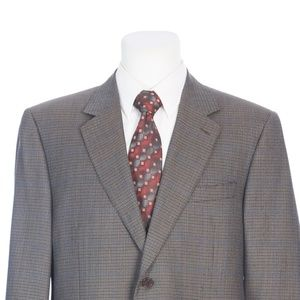 Canali Full Canvas Brown Black  Italian Sport Coat
